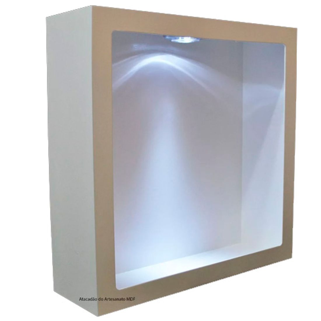 Nicho-Quadrado-Simples-37x37x15-Branco-Com-Led