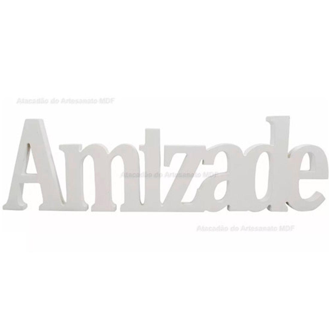 Palavra-Amizade-15mm-Pintado-41x12-Madeira-Mdf