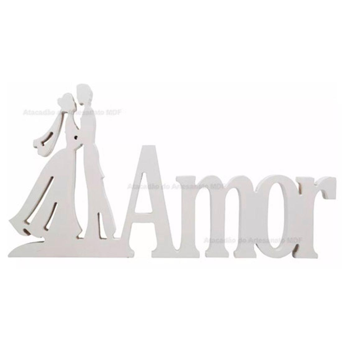 Palavra-Amor-Casal-Noivos-Pintado-34x18x15-Mdf-Madeira