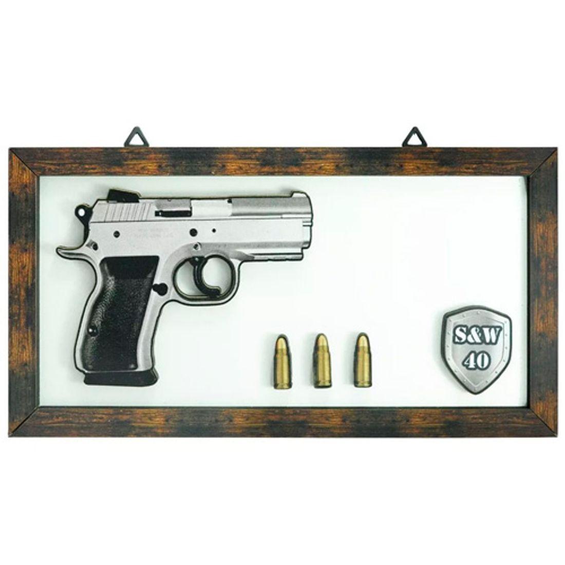 Quadro-3D-Arma-de-Fogo-Magnum-S-W-40-Mdf-Madeira-Adesivado