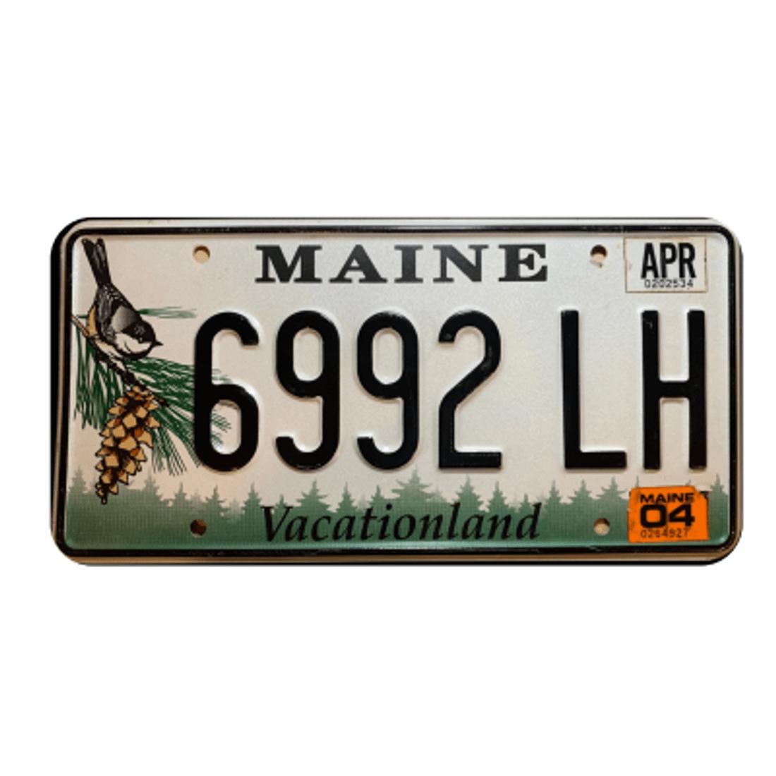 Placa-Carro-Maine