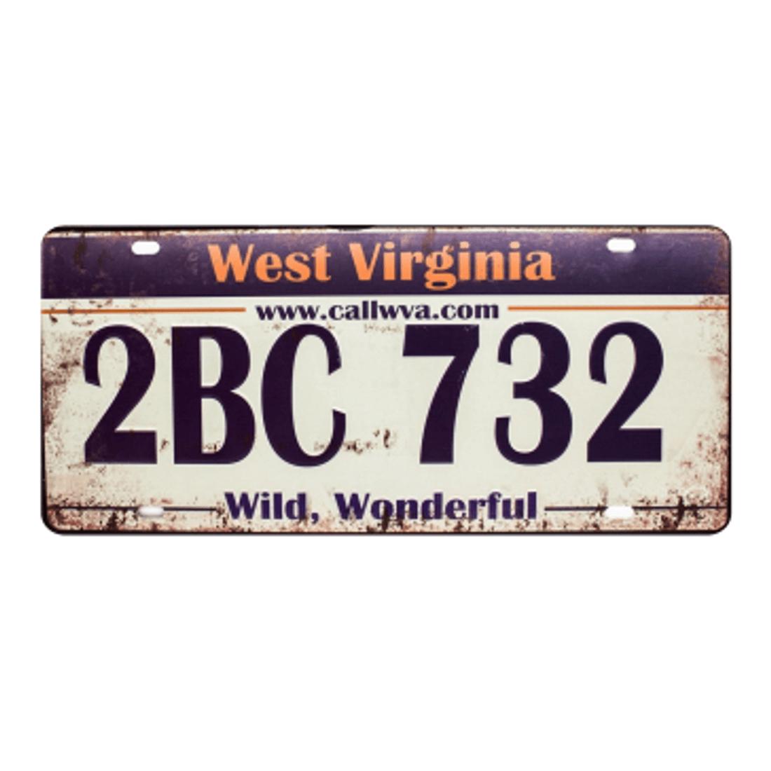 Placa-Carro-West-Virginia