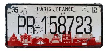 Placa-Carro-Paris-France