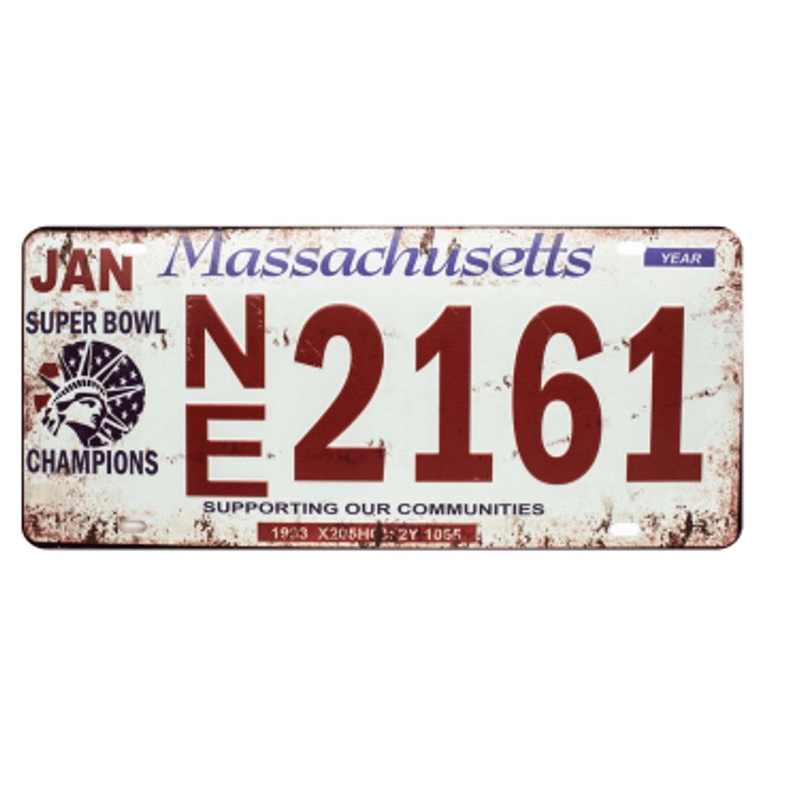 Placa-Carro-Massachusetts