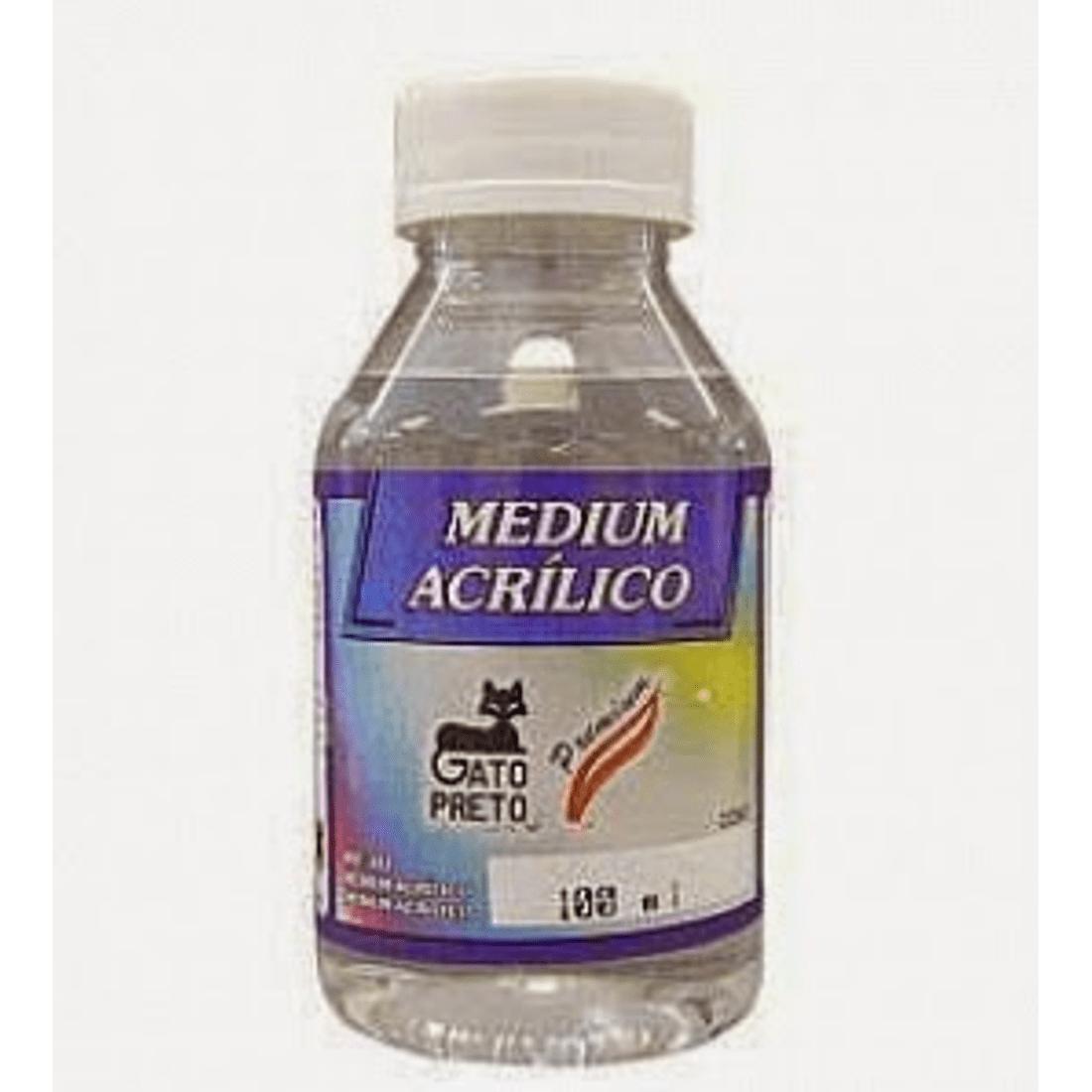 Medium-Acrilico-Gato-Preto-100ml