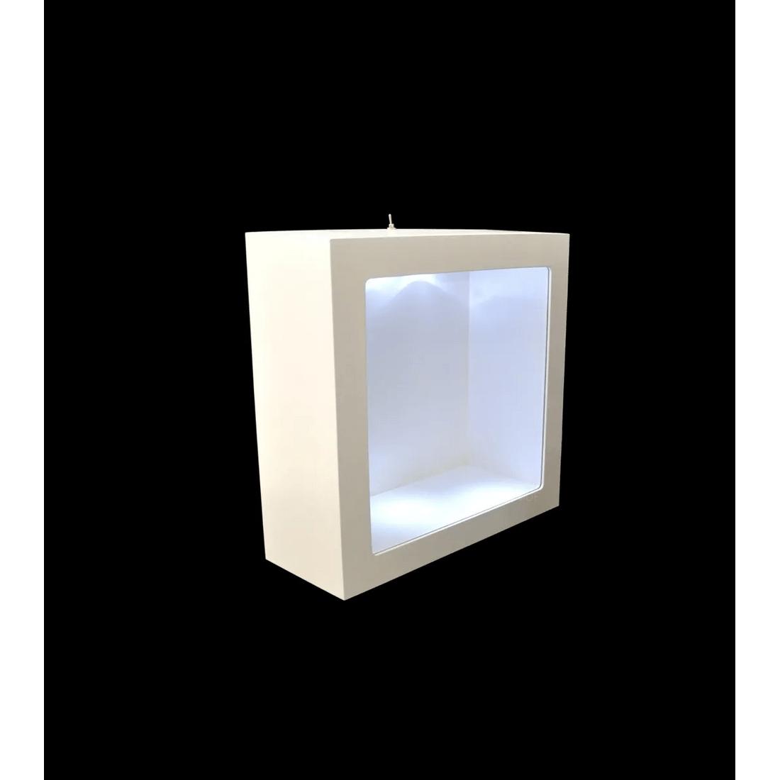 Nicho-Duplo-Quadrado-C-Led-e-Vidro-24x24x12-MDF-Pintado