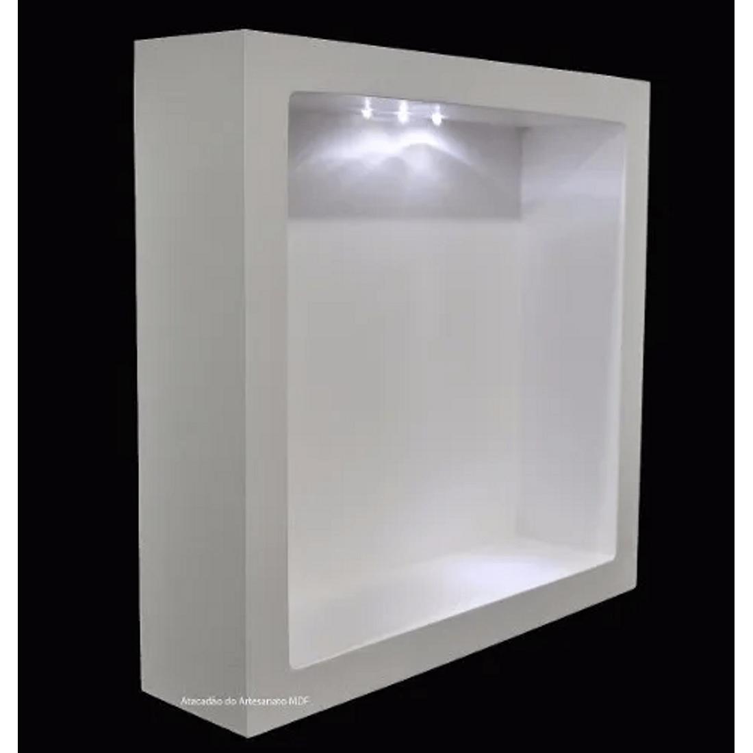 Nicho-Duplo-Quadrado-Com-Led-40x40x25-MDF-Pintado-Madeira