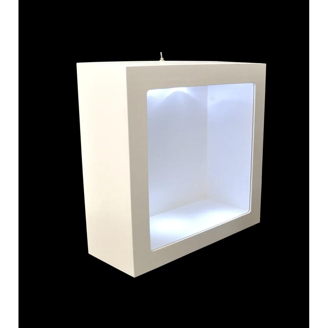 Nicho-Duplo-Quadrado-Com-Vidro-E-Led-32x32x10-MDF-Pintado