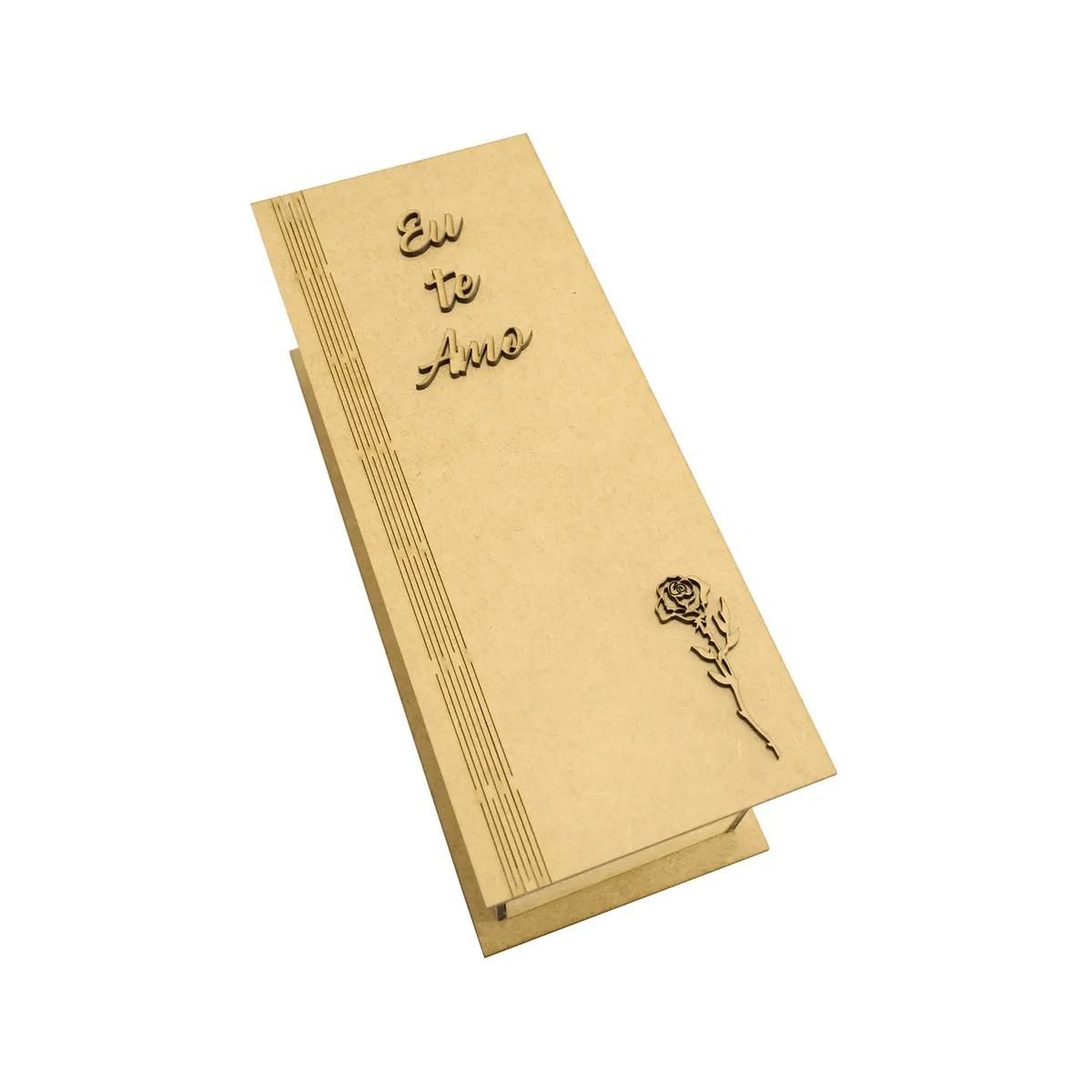 Kit-6-Caixa-Para-Mini-Vinho-Chandon-Tampa-Dobravel-Com-Aplique-Eu-Te-Amo-e-Rosa-Laser-Mdf