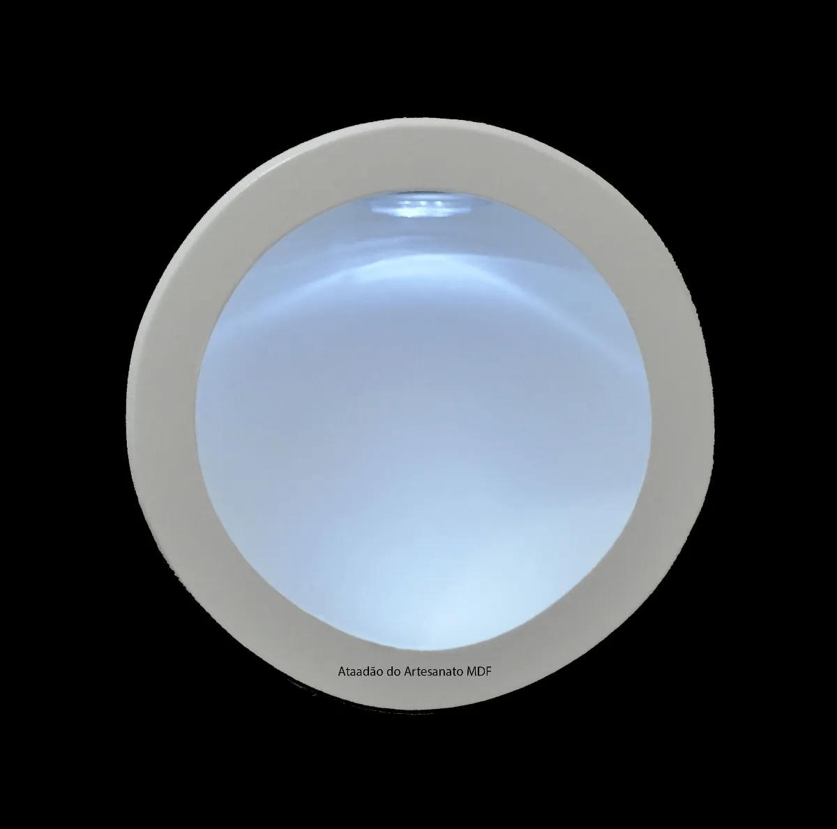 Nicho-Redondo-Simples-com-LED-23x10-Madeira-Mdf-Pintado