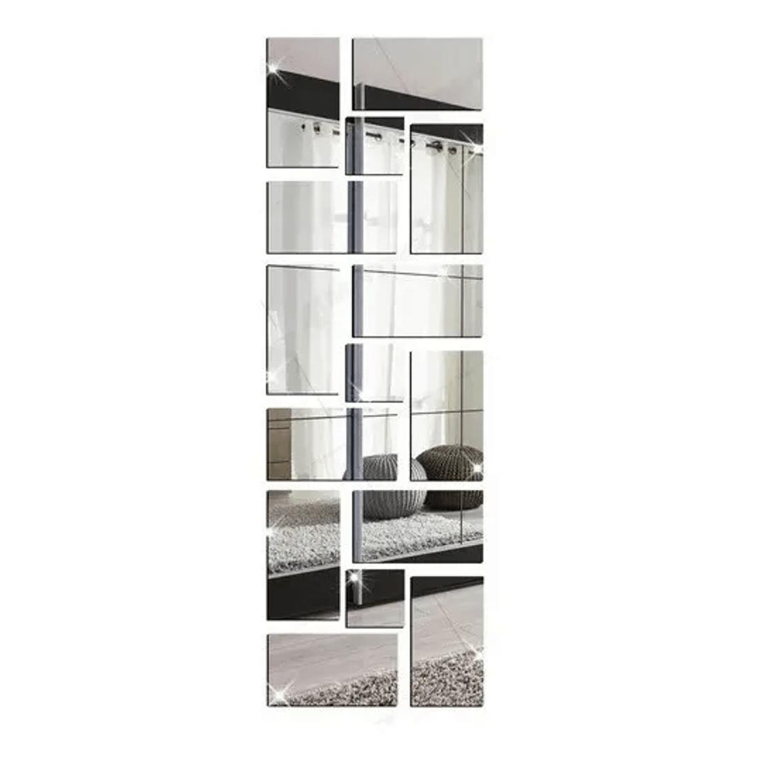 Kit-15-Espelho-Liso-Retangular-e-Quadrado-Decorativo-Com-Fita-Dupla-Face