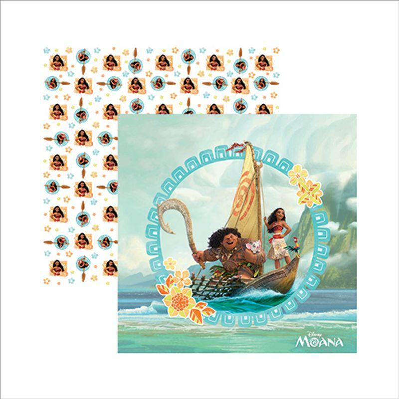 Papel Scrap Festa Disney Moana 1 Guirlanda Sdfd57 - Toke E Crie