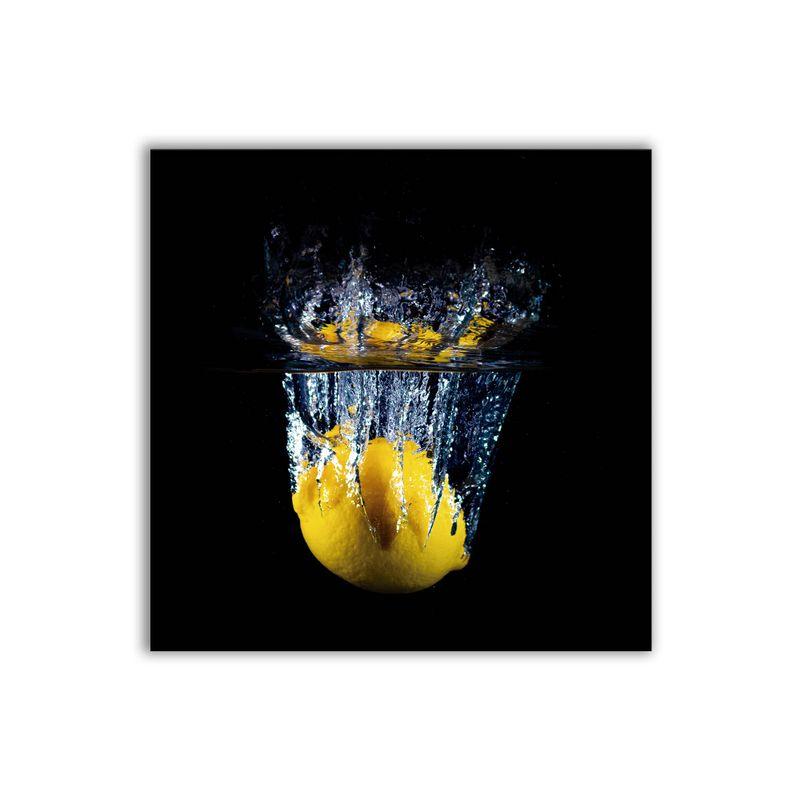 Quadro Decorativo Bebida Com Limão Inteiro 20x20 Mdf Madeira Adesivada
