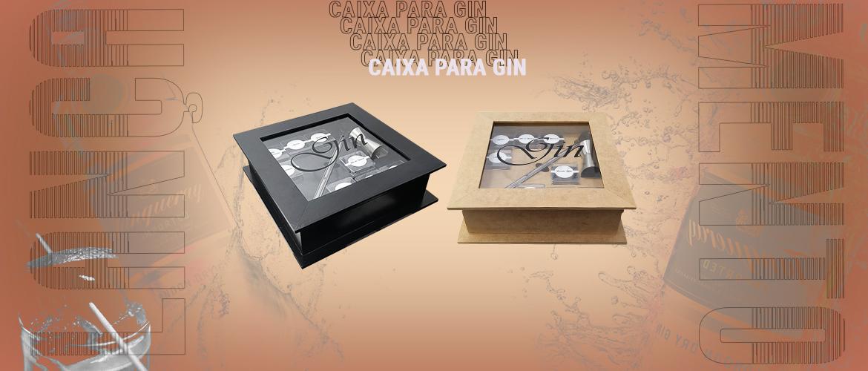 Banner caixa gin com vidro