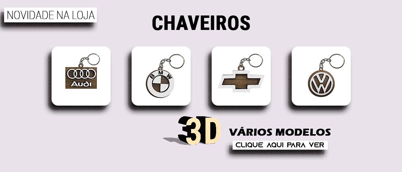 Banner chaveiros 3d