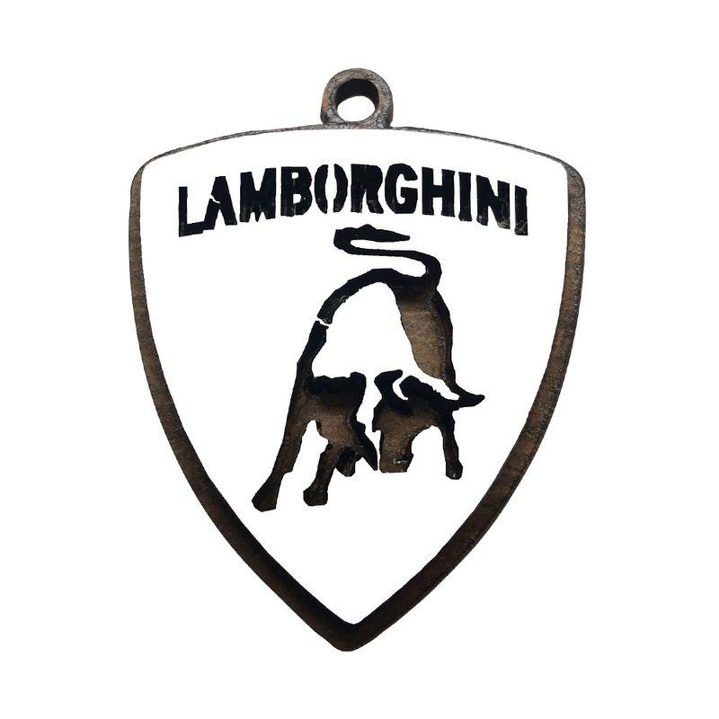 Chaveiro 3d Lamborghini 3,5cm Mdf Madeira Decorada